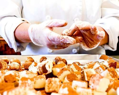 hand rolling truffles