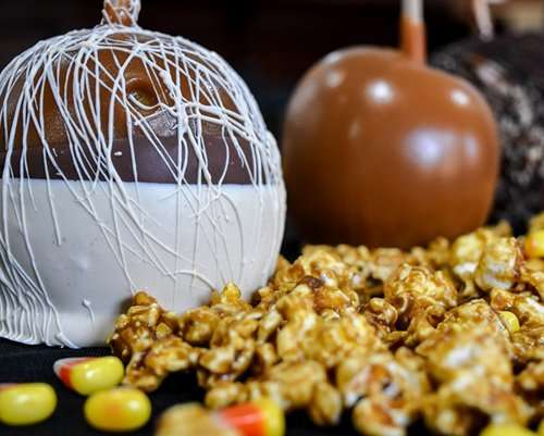 caramel apples and popcorn